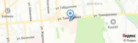 Студент на карте Алматы