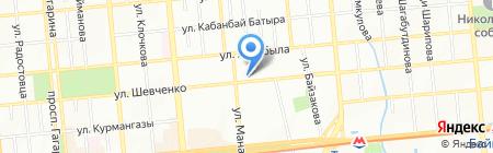 День и Ночь на карте Алматы