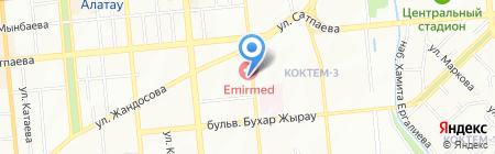 ЛОЦ на карте Алматы