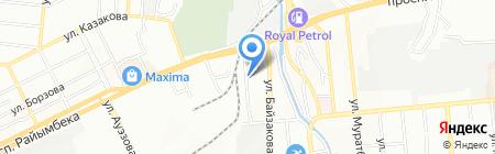 Продуктовый магазин на ул. Мирзояна на карте Алматы