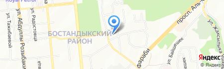 Афина продовольственный магазин на карте Алматы