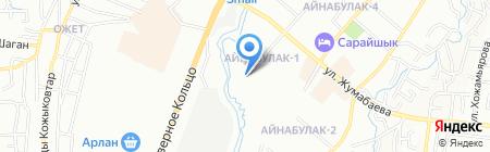 КОНСТАНТИНОВА на карте Алматы