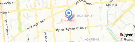 Кожно-венерологический диспансер на карте Алматы