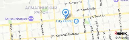 Цветы-Гульдер на карте Алматы