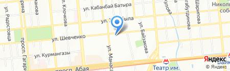 Регион безопасности на карте Алматы