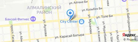 Тигрёнок на карте Алматы