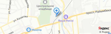 Акжол на карте Алматы