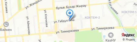 Коктал на карте Алматы