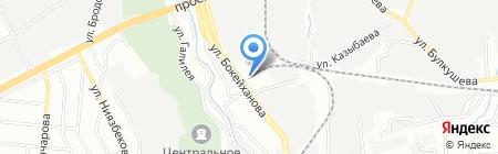 Продуктовый магазин на ул. Бокейханова на карте Алматы