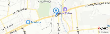 Управление по делам обороны Жетысуского района на карте Алматы