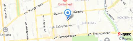 Золотая Рыбка на карте Алматы