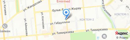 Сулушаш на карте Алматы
