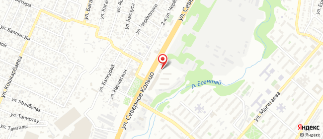 Карта расположения пункта доставки Северное кольцо в городе Алматы
