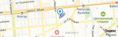Аварийно-диспетчерская служба на карте Алматы