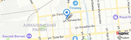 Жарылыс и К на карте Алматы
