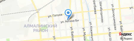 Авоська на карте Алматы