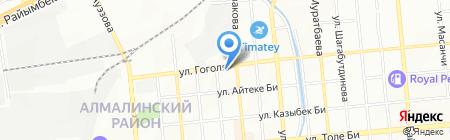 Мастерская по ремонту обуви на ул. Гоголя на карте Алматы