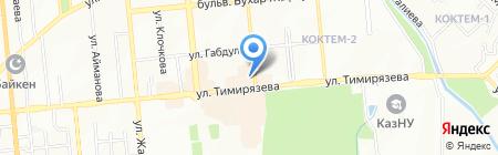 Аскар продовольственный магазин на карте Алматы