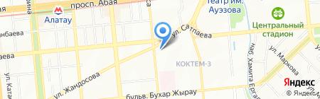 Международный университет информационных технологий на карте Алматы