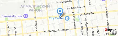 Ажар-Апа на карте Алматы