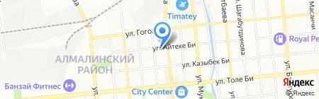Аруаль на карте Алматы