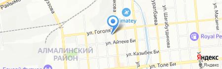 Алатау автомойка на карте Алматы