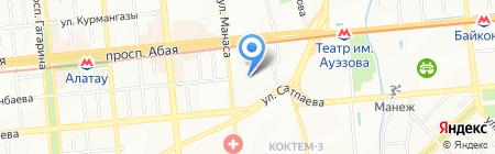Манас на карте Алматы