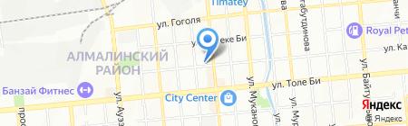 Краман на карте Алматы