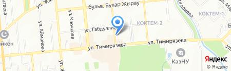 Нескучный сад на карте Алматы