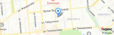 Вавилонский сад на карте Алматы