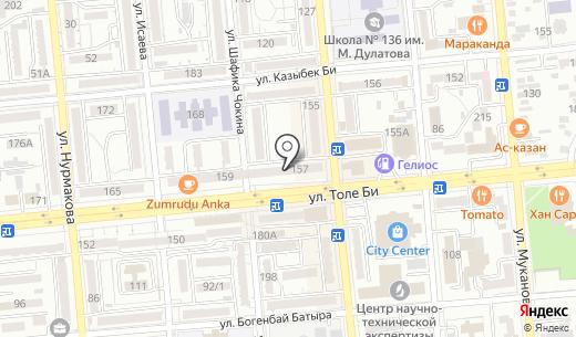 MS Help. Схема проезда в Алматы