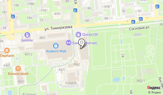 Lady. Схема проезда в Алматы