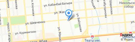 Нобел АО на карте Алматы
