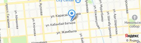 Алвик на карте Алматы