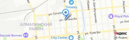 Шиномонтажная мастерская на ул. Айтеке би на карте Алматы