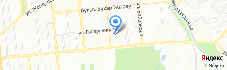 Наза на карте Алматы