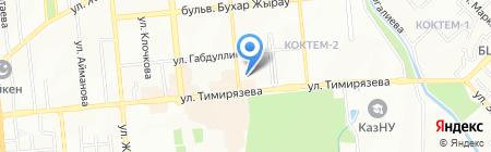Мерей на карте Алматы