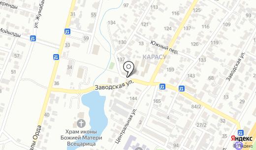 Гаухар Тас. Схема проезда в Алматы