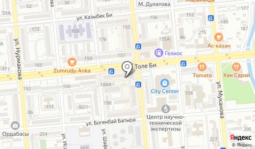 Altinbasak. Схема проезда в Алматы