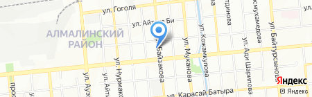 Нотариус Естаев А.Ж. на карте Алматы