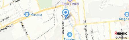 Самай на карте Алматы