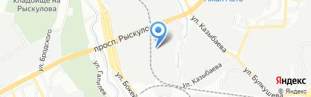 Беркут Авто на карте Алматы