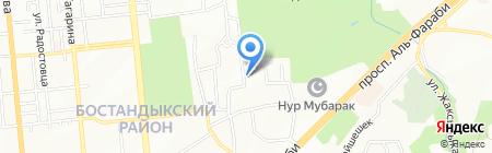 КазИТУ на карте Алматы