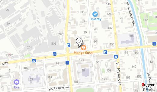 Oilsert International. Схема проезда в Алматы