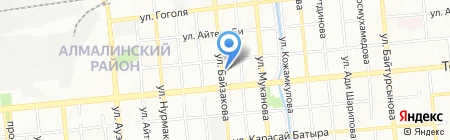 Нотариус Арыстанбекова Г.А. на карте Алматы