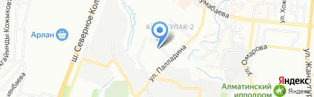 Дос-Абыл на карте Алматы