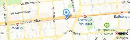 Гимназия №105 им. Ораза Жандосова на карте Алматы