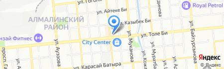 Нотариус Коккозова Р.Ж. на карте Алматы