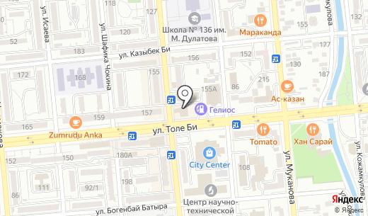 Reina. Схема проезда в Алматы