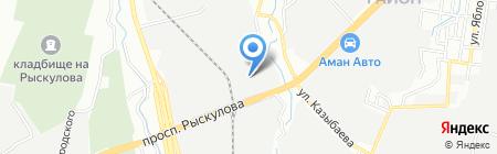 ЖААС на карте Алматы
